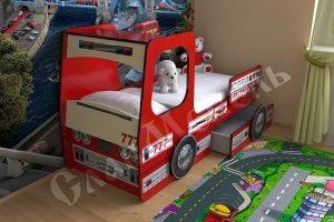 Кровать детская Грузовик - Мебельная фабрика «Мезонин мебель», г. Санкт-Петербург