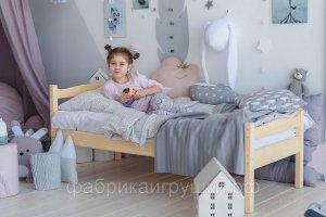 Кровать детская из массива Бриз - Мебельная фабрика «Фабрика Детской Игрушки»