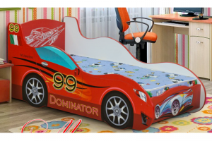 Кровать детская Машинка-4 - Мебельная фабрика «Уютный Дом»