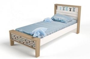 Кровать детская MIX Bunny blue 1 - Мебельная фабрика «ABC King»