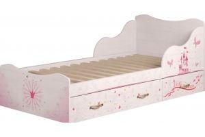 Кровать детская одинарная Принцесса 5 - Мебельная фабрика «Ижмебель»