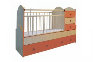 Кровать детская с комодом Дюймовочка - Мебельная фабрика «Башмебель-плюс»