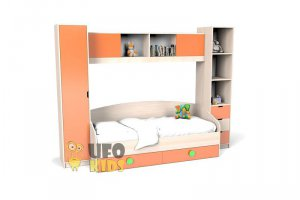 КРОВАТЬ детская С УЗКИМИ ШКАФАМИ К024 - Мебельная фабрика «UFOkids»