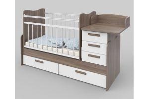 Кровать детская шимо темный - Мебельная фабрика «Атон-мебель»