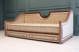 Кровать детская шоколадного цвета - Мебельная фабрика «Danis»