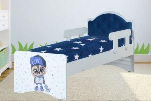 Кровать детская синяя Умка 23 - Мебельная фабрика «ВиТа-мебель»