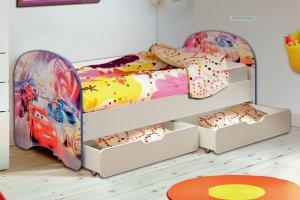 КРОВАТЬ ДЕТСКАЯ ТАЧКИ с двумя ящиками - Мебельная фабрика «Матрица»