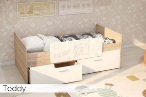 Кровать детская Teddy (Белый глянец) - Мебельная фабрика «Мебель Даром»