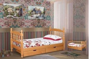 Кровать Детская Точенная - Мебельная фабрика «Pines (Пайнс)»