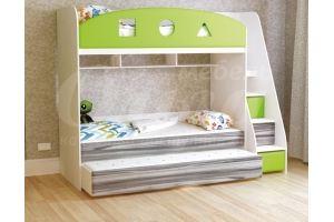 Кровать детская трехъярусная Непоседа - Мебельная фабрика «Ольга»