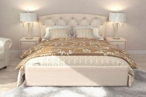 Кровать Диана Молочный - Мебельная фабрика «Цвет диванов»