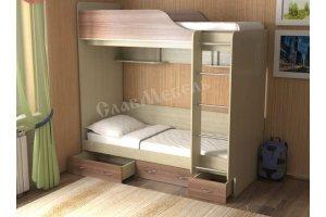 Кровать для детской Дуэт 14 - Мебельная фабрика «СлавМебель»