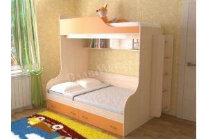 Кровать для детской Дуэт 15 - Мебельная фабрика «СлавМебель»