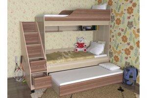 Кровать для детской Дуэт 17 - Мебельная фабрика «СлавМебель»