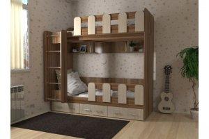 Кровать для детской Дуэт 21 - Мебельная фабрика «СлавМебель»