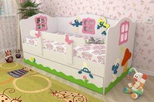 Кровать для девочек Смурфы - Мебельная фабрика «Дубок»