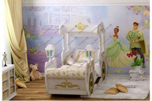 Кровать для девочки Карета Золушка WHITE - Мебельная фабрика «Red River»