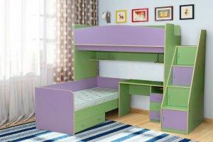 Кровать для двоих детей Радуга-4 - Мебельная фабрика «Уютный Дом»