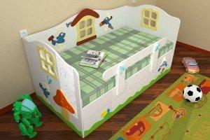 Кровать для мальчиков Смурфы - Мебельная фабрика «Дубок»