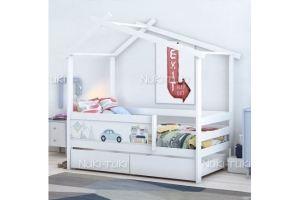 Кровать-домик белая - Мебельная фабрика «NUKI-TUKI»
