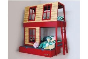 Кровать-домик Дом мечтателя с выдвижным ящиком - Мебельная фабрика «Mamka»