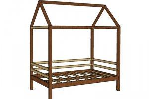 Кровать-домик из дерева ФАНТАЗИЯ - Мебельная фабрика «Фабрика Детской Игрушки»