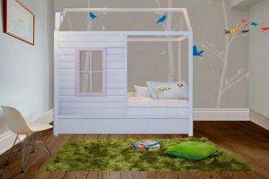 Кровать-домик Любимый домик в деревне с окошком - Мебельная фабрика «Mom'sLove»