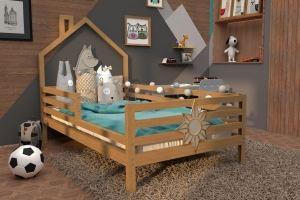 Кровать домик массив НК 08 - Мебельная фабрика «ВЭФ»