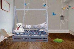 Кровать-домик Райский шалаш - Мебельная фабрика «Mom'sLove»