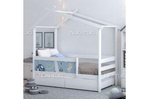 Кровать домик с фотопечатью - Мебельная фабрика «NUKI-TUKI»