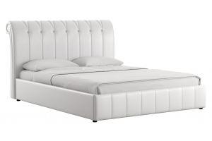 Кровать двойная Августа к/з - Мебельная фабрика «Нижегородмебель и К (НиК)»
