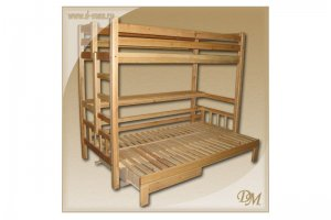 Кровать-чердак двухъярусная Канада - Мебельная фабрика «Добрый мастер»
