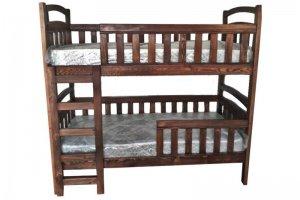 Кровать двухъярусная деревянная Школьник - Мебельная фабрика «Массив»