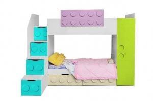 Кровать двухъярусная детская Лего - Мебельная фабрика «Мандарин»