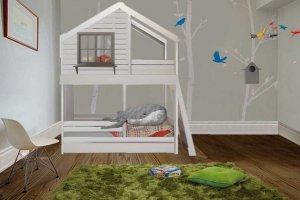 Кровать двухъярусная Домик под звездами - Мебельная фабрика «Mom'sLove»