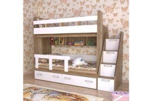 Кровать двухъярусная Дуб каньон - Мебельная фабрика «БонусМебель»