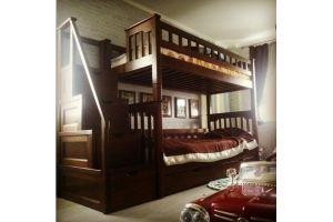 Кровать двухъярусная из массива дуба - Мебельная фабрика «Эксклюзив-Пинск»