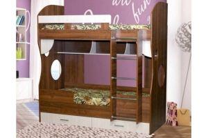 Кровать двухъярусная ЛДСП - Мебельная фабрика «Мебель Прогресс»