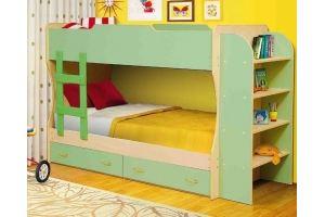 Кровать двухъярусная М-2 (ЛДСП) - Мебельная фабрика «Юнона»