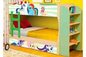 Кровать двухъярусная-М ПОНИ-1 - Мебельная фабрика «Юнона»