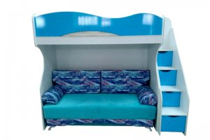 Кровать двухъярусная Морская волна - Мебельная фабрика «Дэрия»