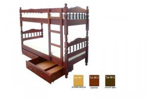 Кровать Двухъярусная Ретро из массива - Мебельная фабрика «Егорьевск»