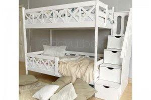 Кровать двухъярусная Сальвия белая - Мебельная фабрика «Агат»