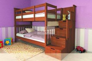 Кровать двухъярусная Сиена с лестницей - Мебельная фабрика «МуромМебель (ИП Баранихина Г.И.)»