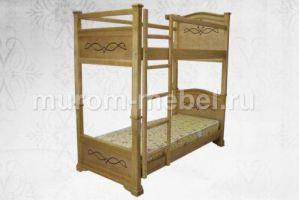 Кровать двухъярусная Соната - Мебельная фабрика «Муром-мебель»
