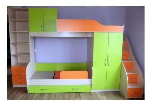 Кровать двухъярусная в детскую - Мебельная фабрика «Интерьер»