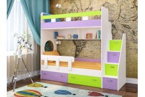 Кровать двухъярусная Юниор 1 - Мебельная фабрика «ЯРОФФ»