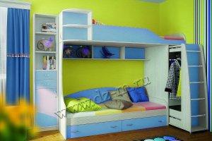 Кровать двухъярусная Юниор 6 - Мебельная фабрика «ДИЗАЙН МЕБЕЛЬ»