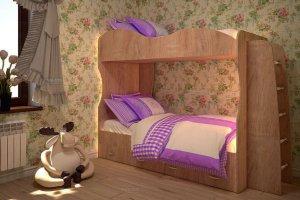 Кровать двухъярусная Юность-1 - Мебельная фабрика «ТФМ XXI»