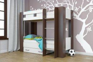 Кровать двухъярусная Юность-5 с ящиком - Мебельная фабрика «ТФМ XXI»